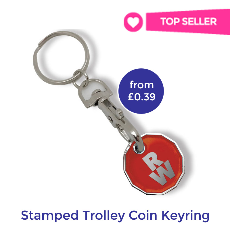 promotional trolley coin keyring