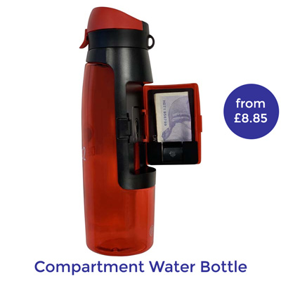 branded reusable water bottle