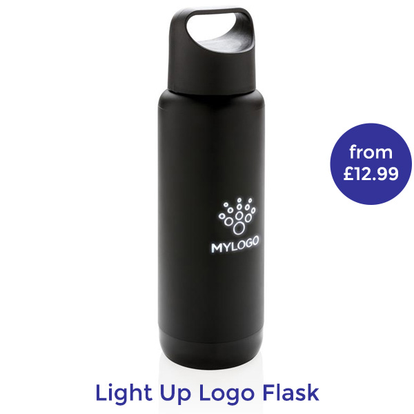 light up logo branded thermal mug