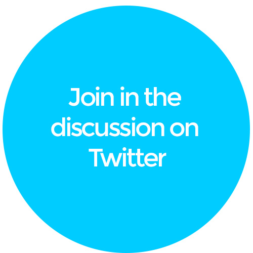 join in the discussion on Twitter