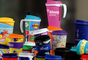 branded reusable coffee cups