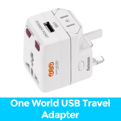 promotional travel adaptor