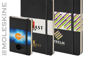 Free Set up and Carriage on all Promotional Moleskine Products!
