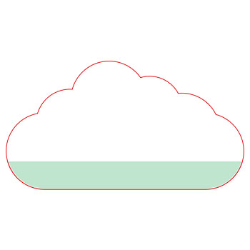 Standard Cloud Shape NoteStix