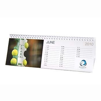 Individually Personalised Standard Desktop Calendar