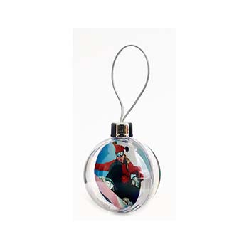 Clear Perspex 3D Bauble