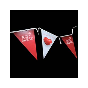 Triangular Synthetic Paper Bunting