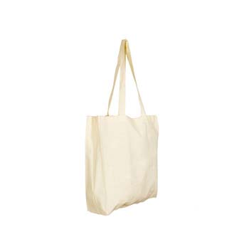 Endeavour Gusseted 6oz Premium Quality Cotton Shopper Bag