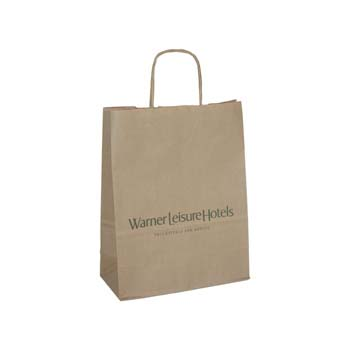 Kraft Paper Bag - Twisted Handles - 260 x 130 x 350mm