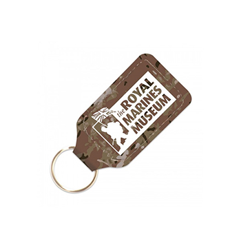 Camouflage Leatherboard Keyring