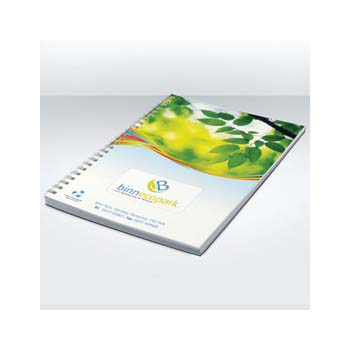 Green and Good Wirebound Full Colour Notebook A4, Recycled Card & Paper
