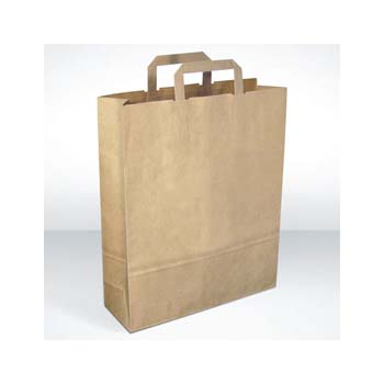 Green and Good Recycled paper carrier bag, large
