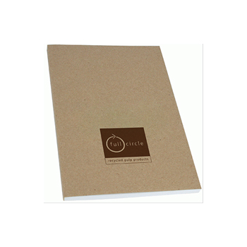 Recycled A5 Natural Card Perfect Bound Notebook