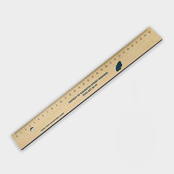 Green and Good Wooden Ruler 30cm - Sustainable