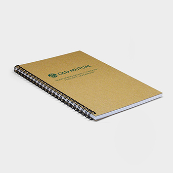 Green and Good A4 Wirebound Natural Board Notebook - Recycled