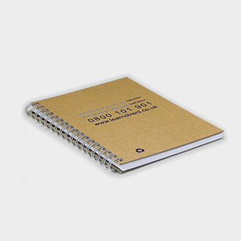 Green and Good A6 Wirebound Natural Board Notebook - Recycled