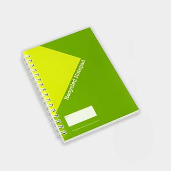 Green and Good A6 Wirebound Full colour Notebook - Recycled