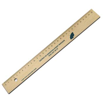 Green and Good 30cm Wooden Ruler