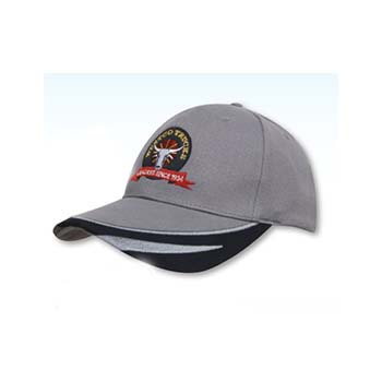 Brushed Heavy Cotton Cap with Peak Trim
