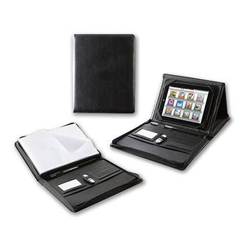 Black Hampton Finecell Leather A4 Zipped Portfolio | Leather Gifts | Executive gifts