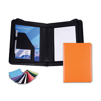 Belluno PU A5 Zipped Conference Folder