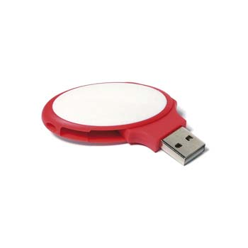 Oval Twister USB Flashdrive - 4GB