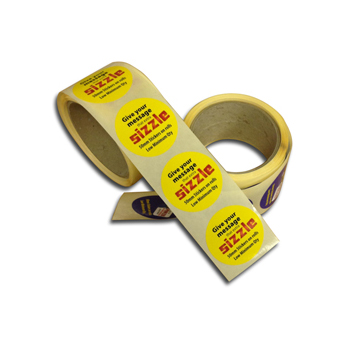 50mm Paper Sticker Roll | Paper Stickers | Low cost giveaways
