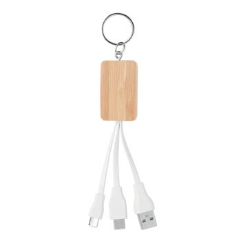 Bamboo 3 -in-1 Charging Cable