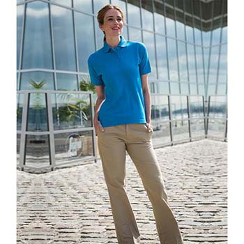 Henbury Ladies Pique Polo Shirt
