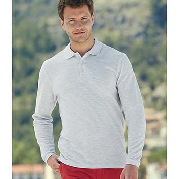 Long Sleeve Premium Pique Polo Shirt