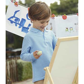 Fruit of the Loom Kids Long Sleeve Pique Polo Shirt