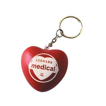 Love Heart Keyring Stress Shape