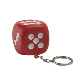Dice Stress Keyring