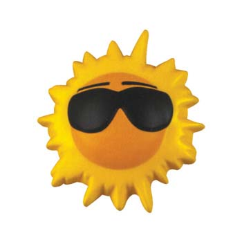 Sun With Glasses Stress Shape