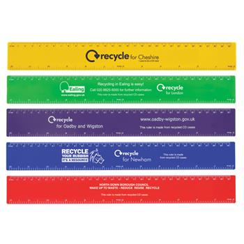 Recycled 30cm Flat Ruler