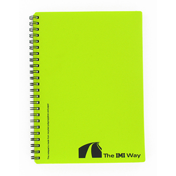 Recycled Polypropylene A6 Notepad
