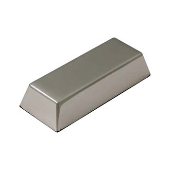 Chrome Plated Ingot Paperweight