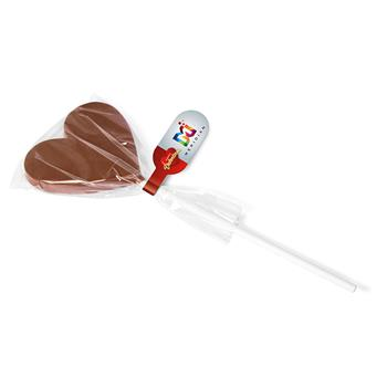 Valentines Heart Shaped Chocolate Lolly