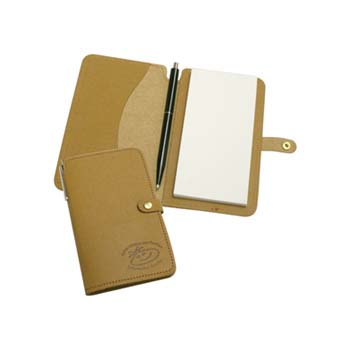 Eco Natural Leather Jotter Pad