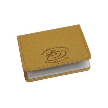 Eco Natural Leather Business Card Wallet