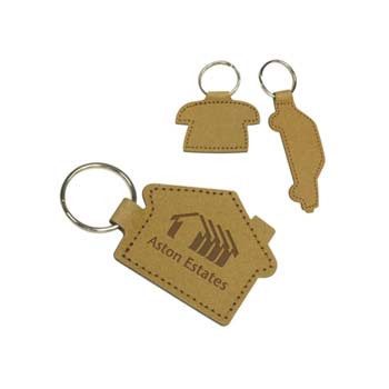 Eco Shaped Natural Leather Key Ring