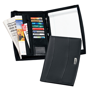 Solutions A4 Zipped Leather Conference Folder