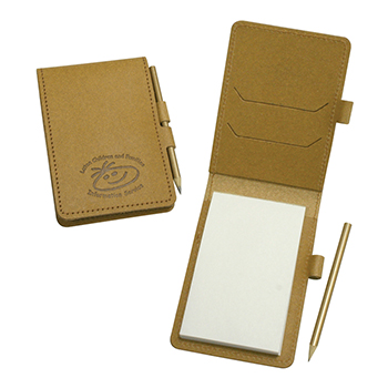 Eco Natural Leather Mini Note Pad
