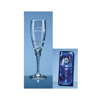 1 Verona Lead Crystal Champagne Flute in Presentation Box