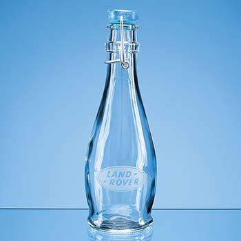 0.355ltr Blue Cap Swing Top Bottle