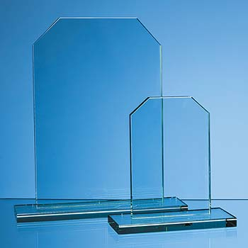 15cm x 12mm Jade Glass Honour Award
