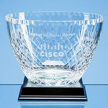 20.5cm Lead Crystal Panelled Fruit Bowl