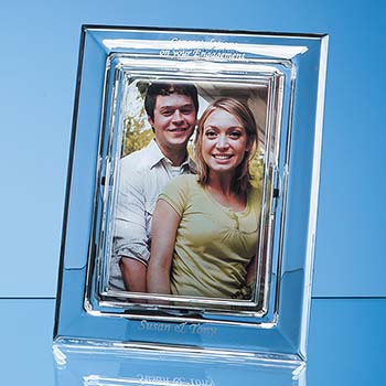 21.5cm Lead Crystal Plain Photo Frame - 4x6 inch
