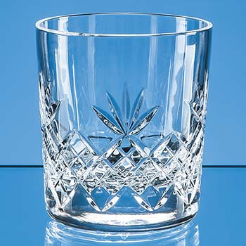 300ml Blenheim Lead Crystal Full Cut Whisky Tumbler