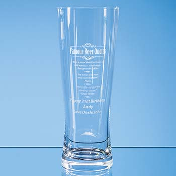 0.7ltr Large Handmade Beer Glass